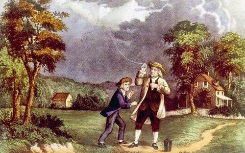 Tegning af Ben Franklin