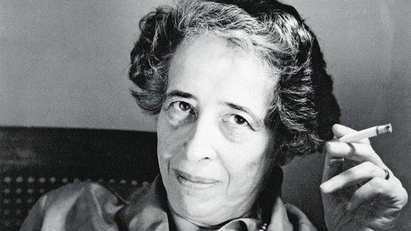 Portræt af Hannah Arendt