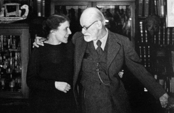 Anna Freud med mand