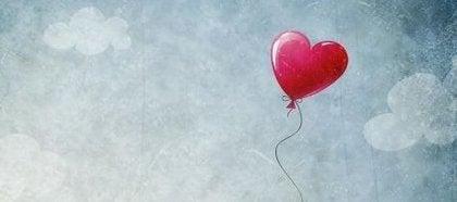 Ballon formet som hjerte