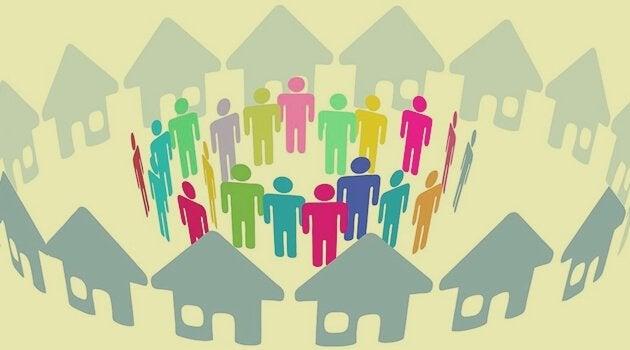 Naboer i bofællesskab