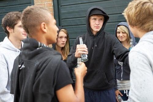Druk finder ofte sted for rebelske teenagere