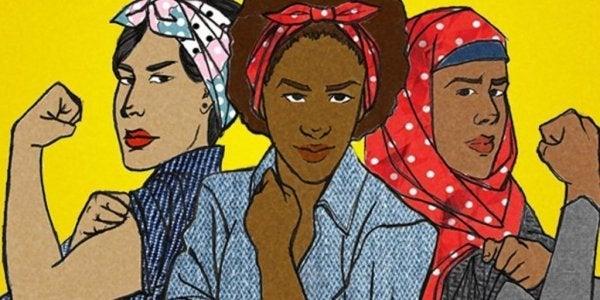 Kvinder symboliserer forskellige typer feminisme