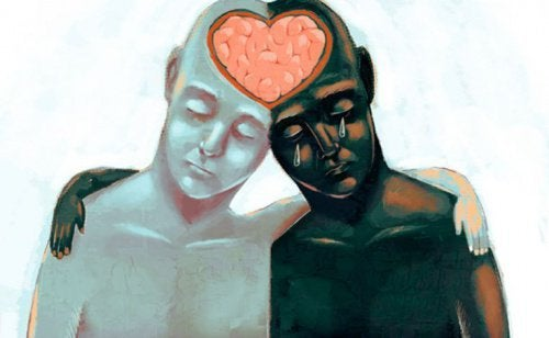 Personer med hjerne formet som hjerte