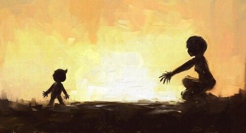 Ild adskiller mor og barn