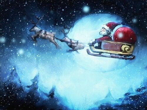 Julemand i kane som del af julehistorie
