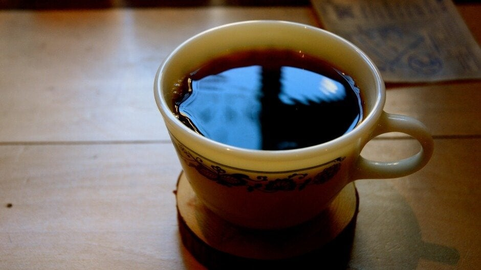 Kaffekop på dødscaféer