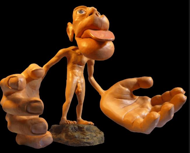 Skulptur af mand