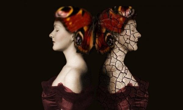Billede af to kvinder illustrerer lys og skygger