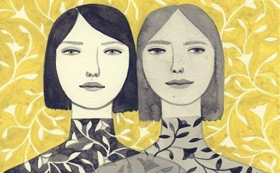 Tegning af to kvinder