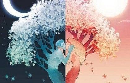 Par illustreret som træer