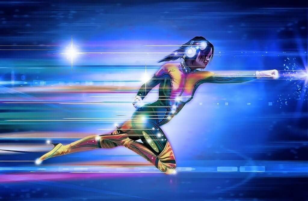 Min superhelt flyver ved høj fart