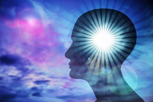 Persons hjerne lyser op på grund af smuk kærlighed