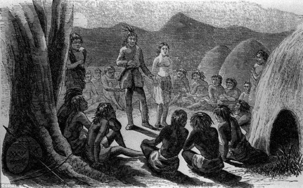 Indianere med Olive Oatman