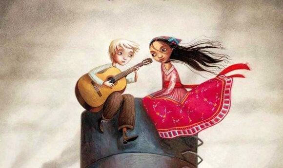 Par sidder og spiller guitar sammen som eksempel på ting, man skal gøre i forhold
