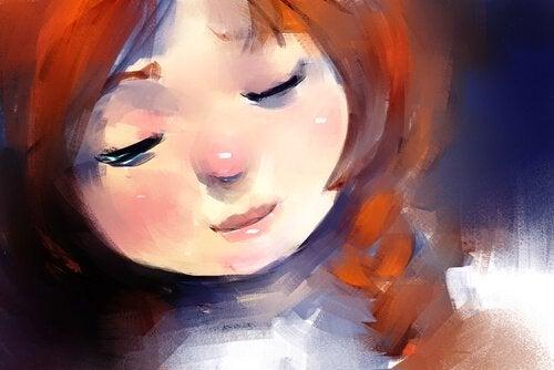 Maleri af pige