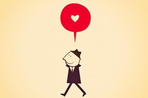 Mand går og tænker på kærlighed