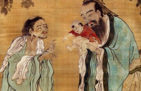 Kinesisk mand med baby