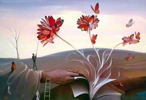 bog blomstrer