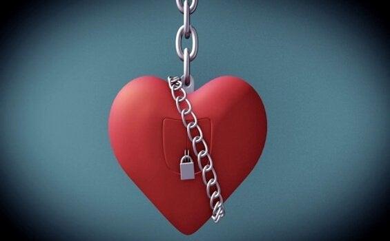 hjerte i kæder