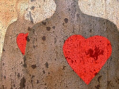 Hjerter på menneskers kroppe