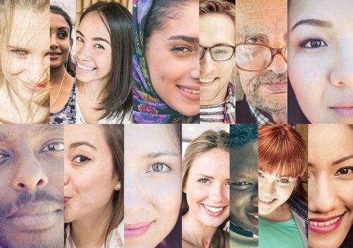 Folk fra forskellige kulturer illustrerer kulturpsykologi