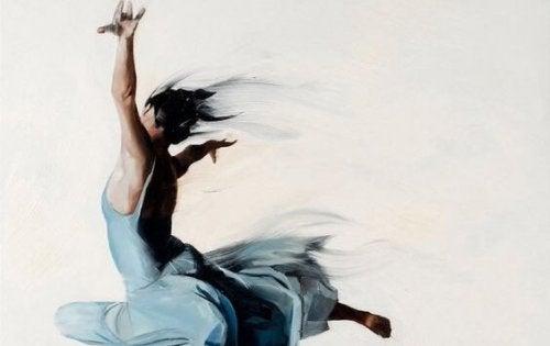 Kvinde danser ballet