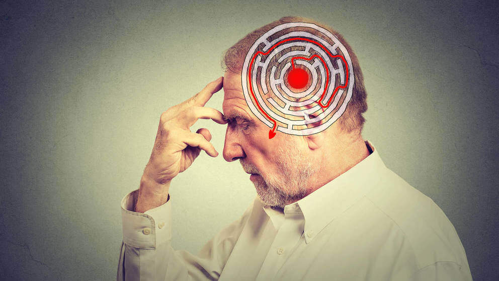 Mand med labyrint tegnet i hjerne lider af anterograd amnesi