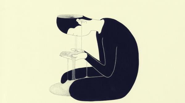 sand ud af øjne symboliserer hukommelsestab fra depression