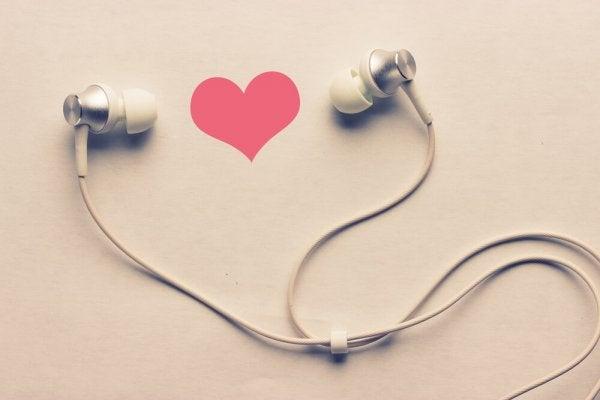 Hjerte høretelefoner. noradrenalin