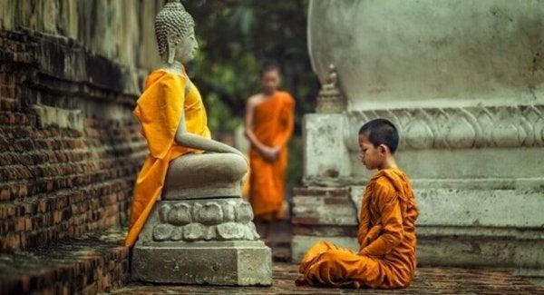 barnemunk meditation Buddha