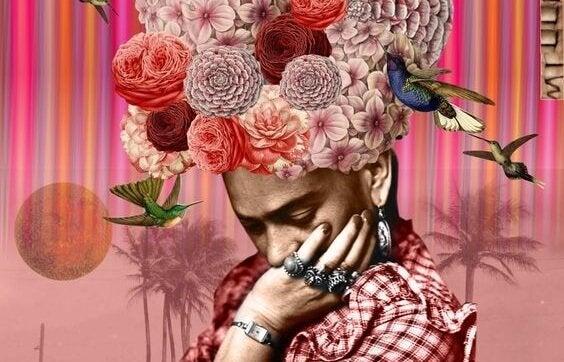 blomster hat og fugle. ændring er ikke let