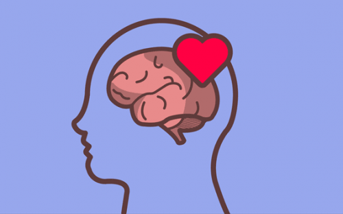 Hjerne med hjerte