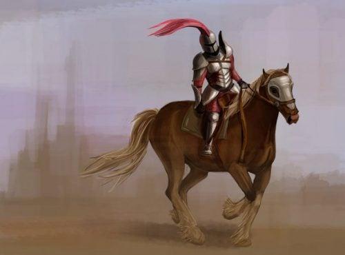 Den nøgne ridder på en hest