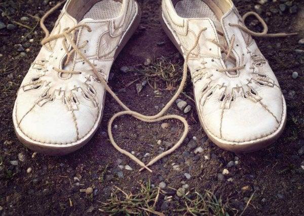 sko med hjerte