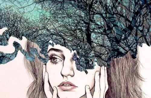 Kvinde der måske tænker på selvhjælps vaner