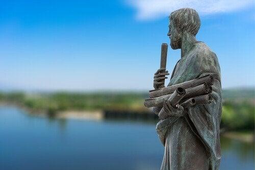 Statue af Aristoteles. 3 former for venskab