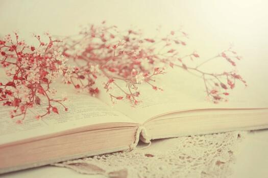 Bog med smukke blade i