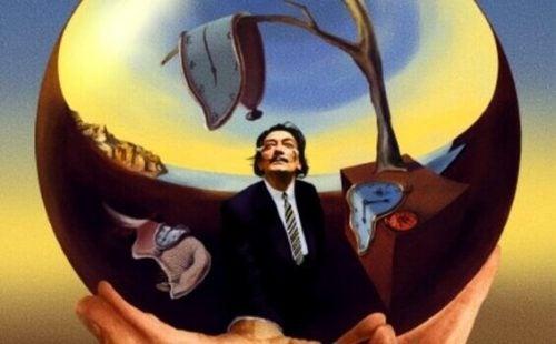 Et malet spejlbillede af Dalí