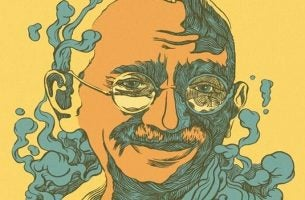 Illustration af Ghandi