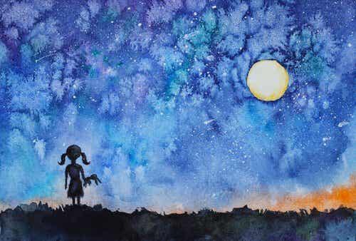 Pigen, der kiggede på nattehimlen og fandt sit indre lys