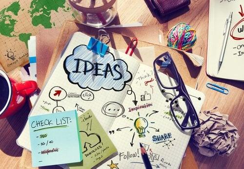 Skriv ideer ned for at blive mere kreativ