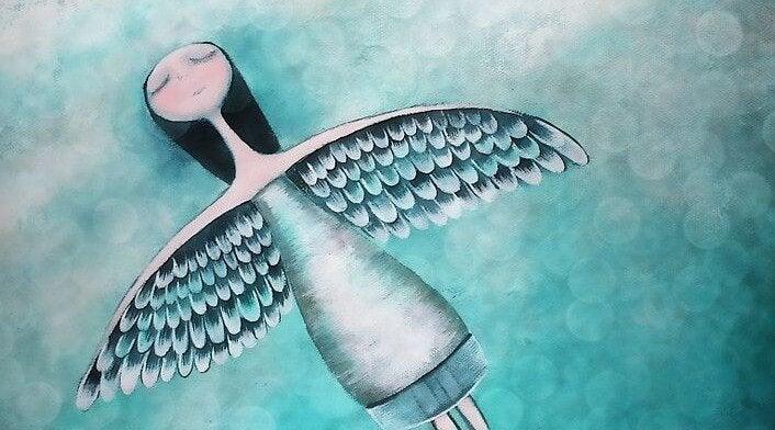 Flyvende engel