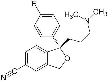 Kemisk formel for Escitalopram