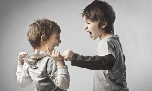 Børn skændes som eksempel på chikane i familien