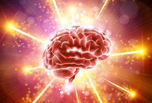 Hjerne, der lyser op