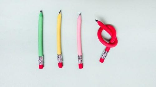 blyanter i fire farver