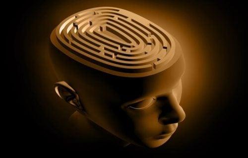 Et hoved med labyrint illustrerer kemohjerne