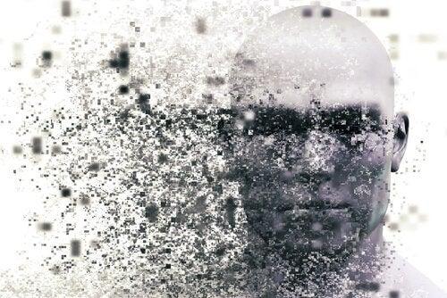 Mands hoved med pletter foran illustrerer en hjerne tsunami
