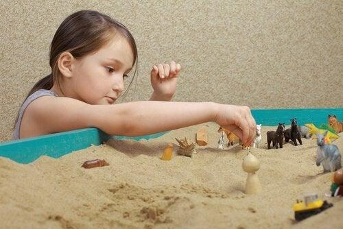 Sandkasseteknikken anvendes mest ved børn